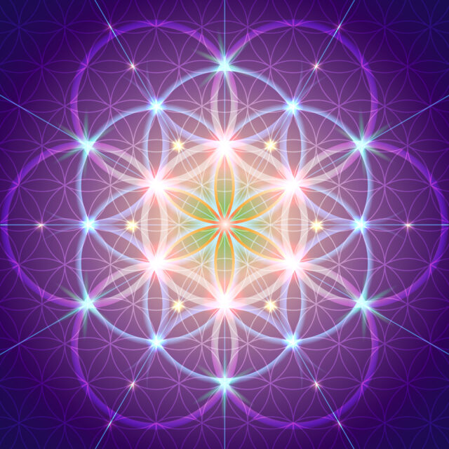 image of the Flower of Life for the Start Here page